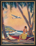 Hawaiian Hula Girl Fantasy Art by Frederick Heckman