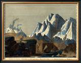 Comparative Height of the Principal Mountains in the World, c.1823 Framed Giclee Print by Fielding Lucas