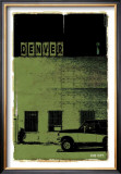 Denver, Vice City in Green Prints by Pascal Normand