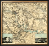 Hughes Military Map of Richmond and Petersburgh, Virginia, c.1864 Framed Giclee Print by W.c. Major Hughes