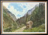 The Valley Anlauftal near Gastein, Salzburg Posters by Rudolph von Alt