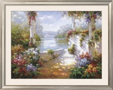 Lakeside Pergola Prints by Elan