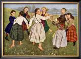The Kindergarten Children Print by Hans Thomas