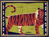 Woodblock Tiger Posters by Benjamin Bay