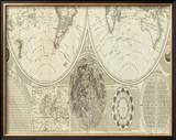 General Map of the World, or Terraqueous Globe, c.1787 Framed Giclee Print by Samuel Dunn