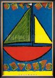 Sailboat Print by Karen Gutowsky