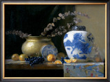 Blue China Vase Prints by Joan Potter