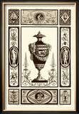 Sepia Pergolesi Urn II Prints by Michel Pergolesi