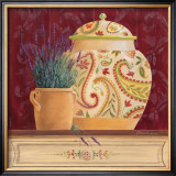 Ginger Jar and Lavender Poster by Gloria Eriksen