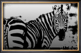 Zebra Chrome I Poster by Susann &amp; Frank Parker