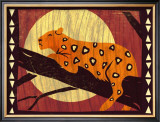 Woodblock Leopard Posters by Benjamin Bay