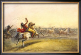 Horse Hunt Poster by Alfred Jacob Miller