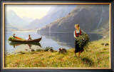 Norweigian Viking Fjord Western Norway Posters by Hans Andreas Dahl