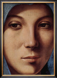 Gesicht der Maria Portrait Art by  Antonello da Messina