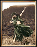Primitive Hula, Hula Girl Posters by Alan Houghton