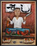 Sushi-Man Framed Giclee Print by John Howard