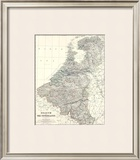 Belgium, Netherlands, c.1861 Framed Giclee Print by Alexander Keith Johnston