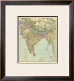 Composite: India, c.1901 Framed Giclee Print by Edward Stanford