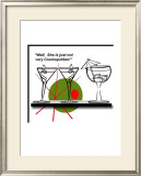 Cosmo Cocktail Framed Giclee Print by Bradly Bowden