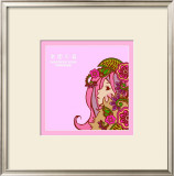 Asian Beauty with Flowers Print by Noriko Sakura