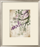 Lavender and Sage Florish Prints by Jennifer Pugh