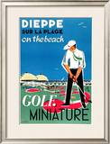 Dieppe Mini Golf Posters by Oliver Gambier