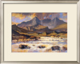 THE CUILLINS FROM SLIGACHAN Limited Edition Framed Print by ED HUNTER