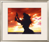 Hula Sunset Framed Giclee Print by Randy Jay Braun