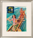 Libby's Outrigger Girl Framed Giclee Print by  Laffety