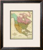 Map of North America Including All the Recent Geographical Discoveries, c.1826 Framed Giclee Print by Anthony Finley