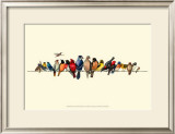 Bird Menagerie III Poster by Wendy Russell