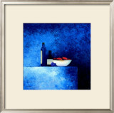Still Life in Blue I Print by Anouska Vaskebova