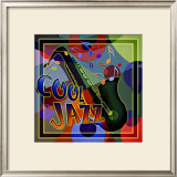 Cool Jazz Music Framed Giclee Print
