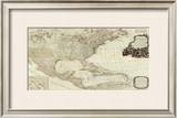 Composite: North America, West India Islands, c.1786 Framed Giclee Print by Thomas Pownall