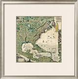 America Septentrionalis A Map of the British Empire in America, c.1733 Framed Giclee Print by Henry Popple