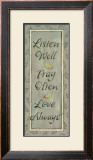 Listen Well, Pray Often Print by Karen Tribett
