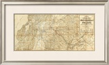 The Central Part of the State of California, c.1865 Framed Giclee Print by C. Bielawski