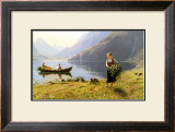 Norweigian Viking Fjord Western Norway Poster by Hans Andreas Dahl