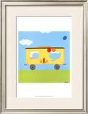 Circus Train III Print by Erica J. Vess