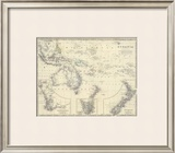 Oceania, c.1861 Framed Giclee Print by Alexander Keith Johnston
