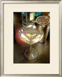 Martini with Lemon Peel Framed Giclee Print by Steve Ash