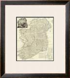 Composite: Ireland, c.1790 Framed Giclee Print by John Rocque