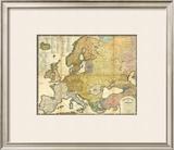Ethnographische Karte von Europa, c.1847 Framed Giclee Print by Heinrich Berghaus