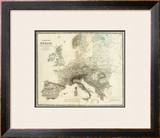 Mountains of Europe, c.1854 Framed Giclee Print by Alexander Keith Johnston