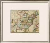 United States, c.1833 Framed Giclee Print by David H. Burr