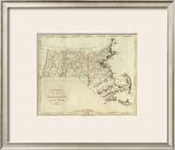 State of Massachusetts, c.1796 Framed Giclee Print by John Reid
