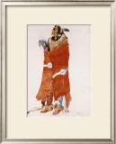 Mahchsi-Karehde, Mandan Man Print by Karl Bodmer