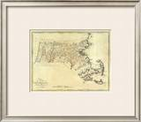 State of Massachusetts, c.1795 Framed Giclee Print by Mathew Carey
