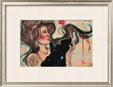 The Girl and the Kitty II Prints by Vicky Filiault