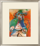 Vieil Homme Assis Mougins, c.1970 Print by Pablo Picasso